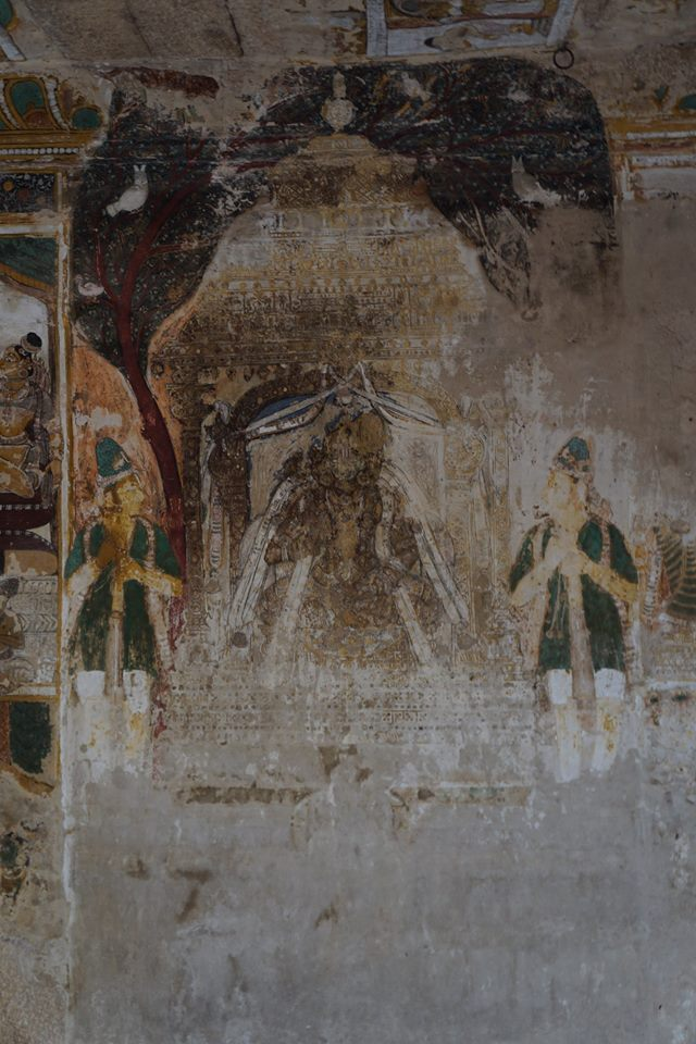 Nammalvar. Mural Painting. Alvar Tirunagari